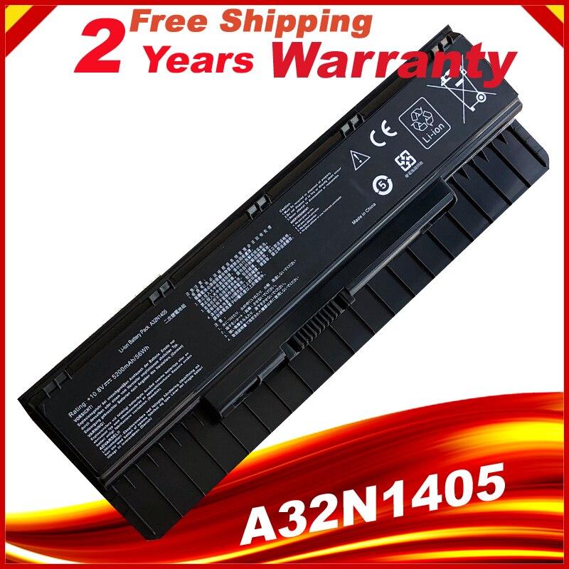 6Cell 5200mAh A32N1405 Battery For Asus ROG G551 G551J G551JK G551JM G58JM G771 G771J G771JK G771JM G771JW U300 U305