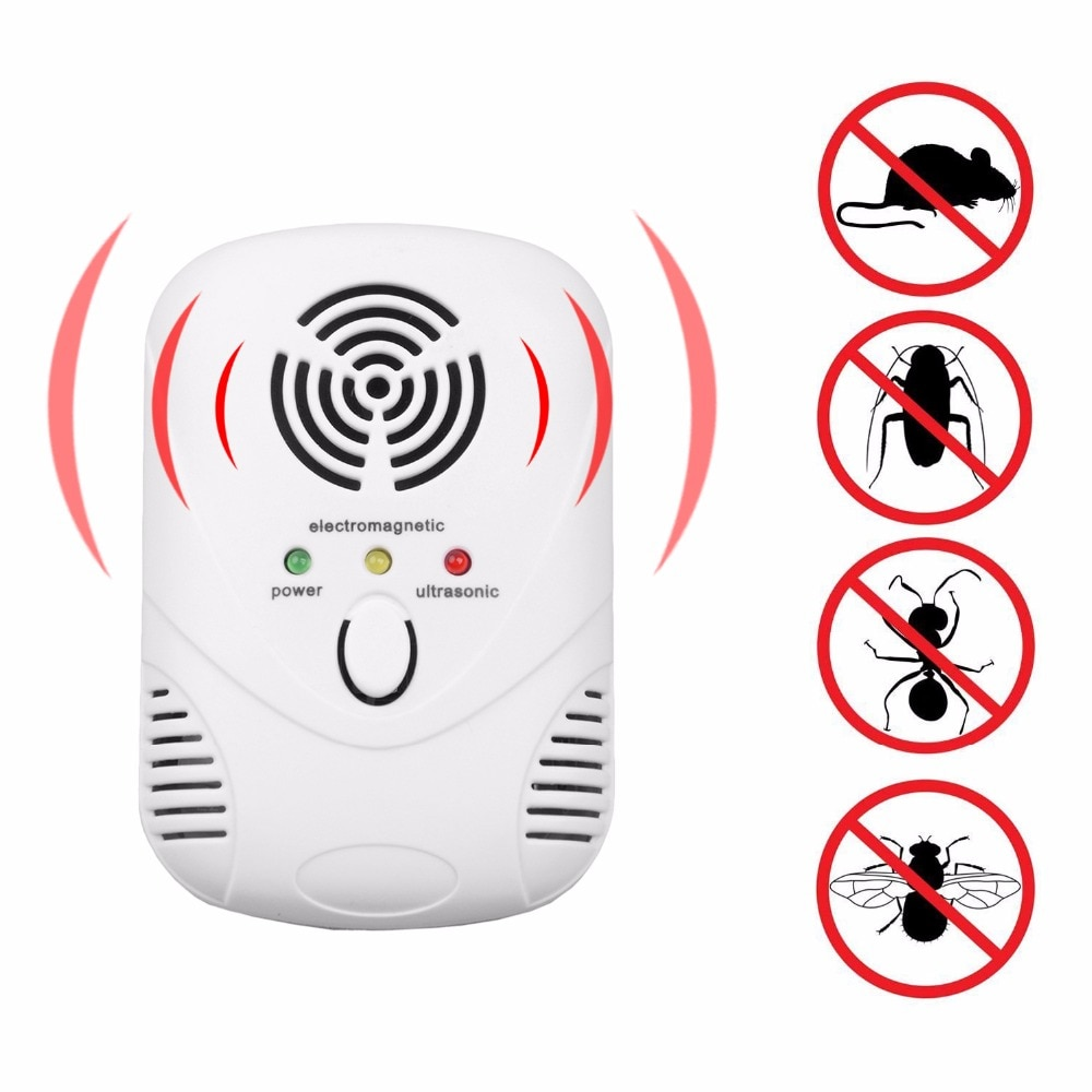 Electronic Ultrasonic Mosquito Repeller Mouse Mosquito Repellent Killer Mouse Cockroach Trap Insect Rats Spiders Pest Control electronic mouse repeller bird repellent anti rat mosquito killer pest repeller mosquito reject control trap
