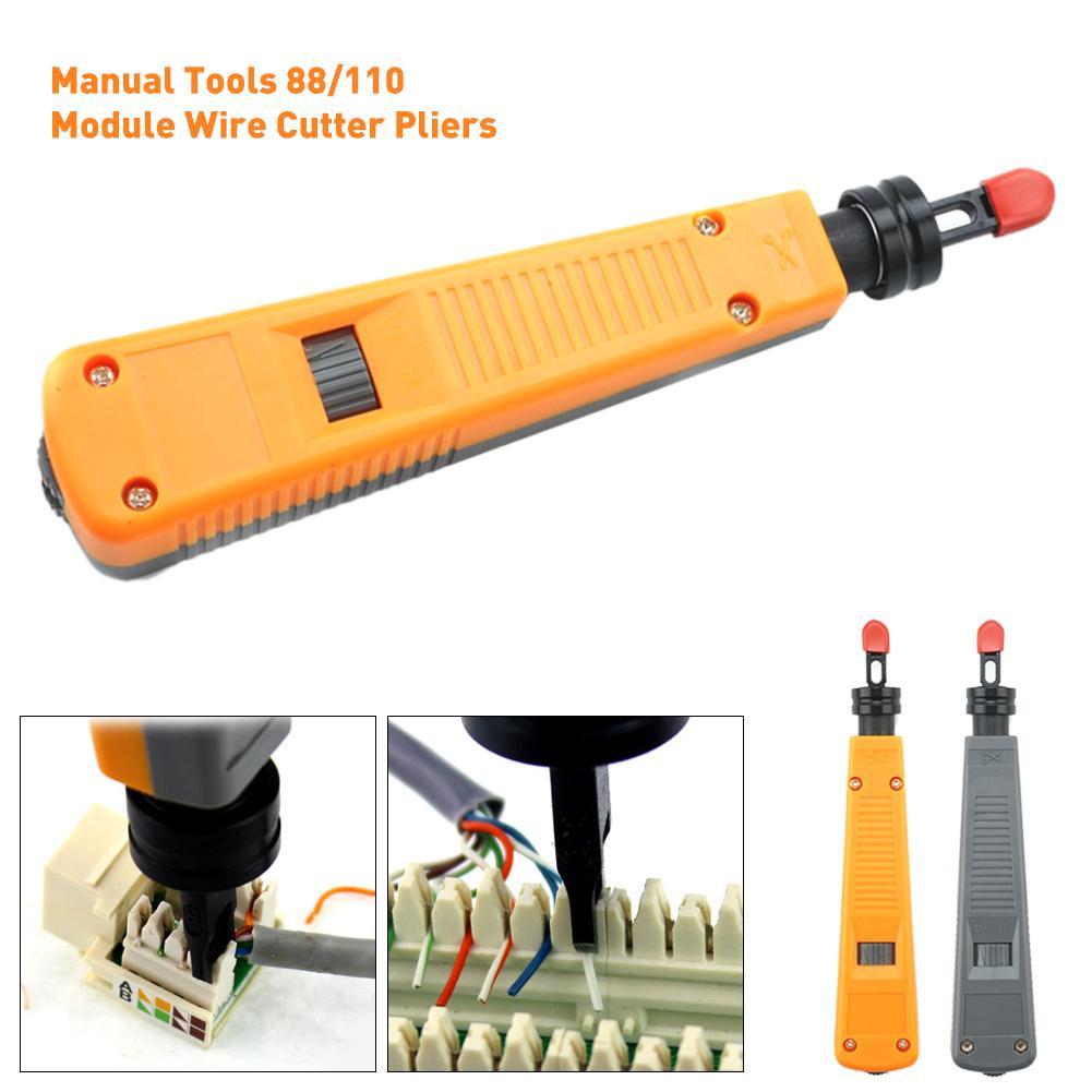 Herramientas manuales cuchillo de bolsillo 88/110 módulo cortador de alambre alicates parche de impacto cuchillo plegable herramienta descendente