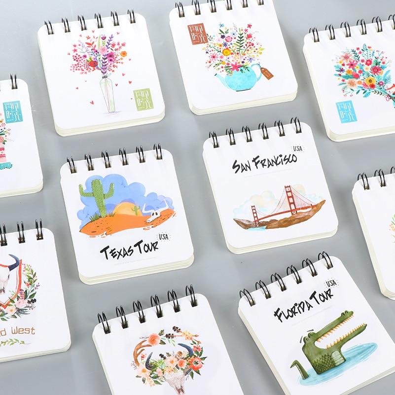 Livre o navio! 1 lote = 16 pc! papelaria Criativa/estudante bobina notebook/notebook portátil/diy livro diário/Bloco de Notas