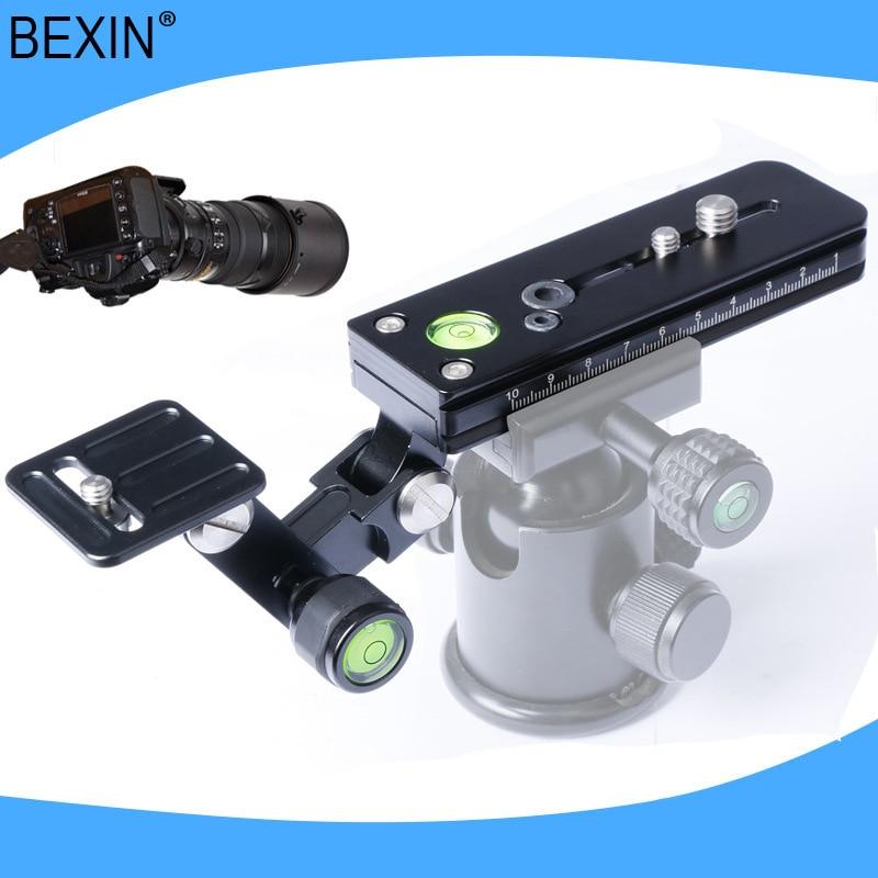 120mm trépied téléobjectif Zoom pince Support dobjectif Rail curseur Support pour Arca Swiss Compatible plaque de fixation rapide