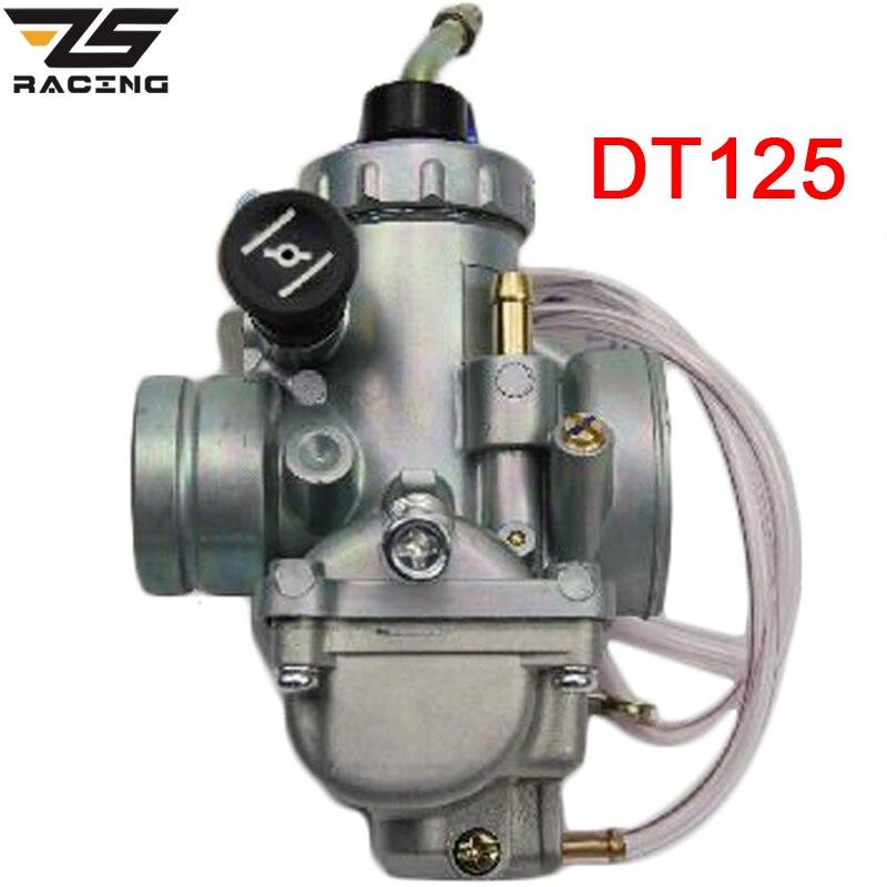 Carburador de motocicleta ZS Racing 28mm para moto de cross Yamaha DT125 DT 125 Suzuki TZR125 RM65 RM80 RM85 DT175 RX125
