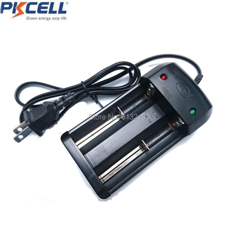 PKCELL 18650 зарядное устройство ICR 18650 26650 16340 14500 10440 18500 зарядное устройство литий-ионная батарея умное зарядное устройство штепсельная вилка ЕС/...