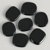 palm stone black obsidian gemstone natural healing crystal therapy craft 25225mm lettering reiki treatment minerals stones