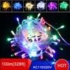 Guirlande lumineuse LED pour arbre de noël 4 pièces 100M 42W ac 600 V/110V 9 couleurs blanc rvb meilleur prix
