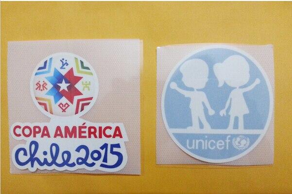 Material de la Pu 2015 Chile Copa América parche y el Unicef de parche
