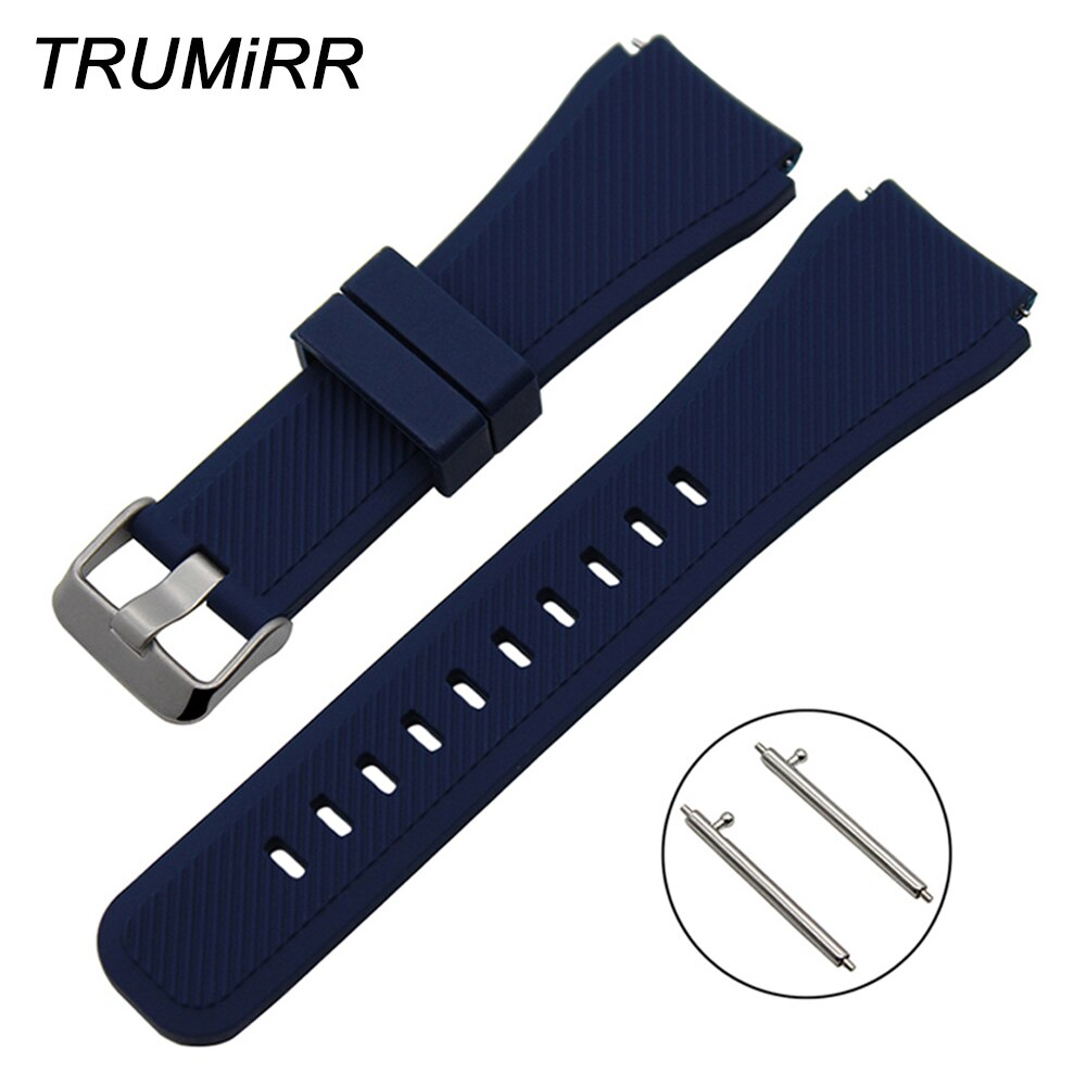 Quick Release Silicone Rubber Watch Band 22mm for Samsung Gear S3 Classic Frontier Garmin Fenix Chronos Wrist Strap Bracelet