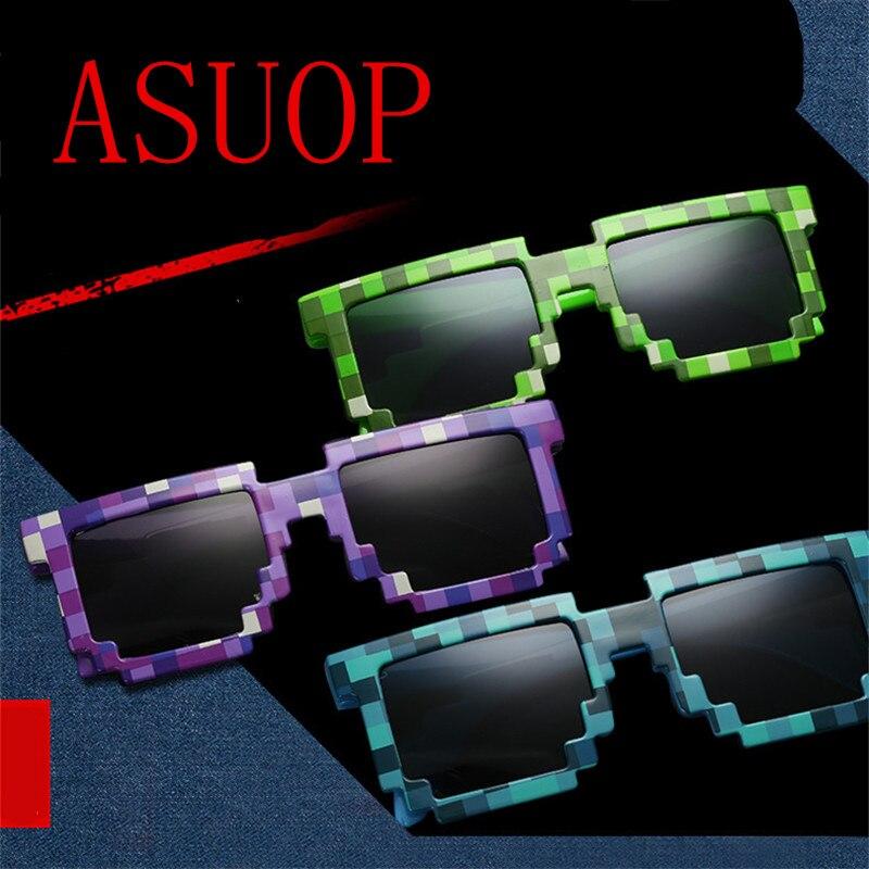 2019 new fashion square childrens sunglasses mosaic boy girl glasses classic luxury brand design retro UV400
