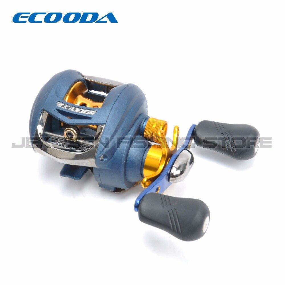 Carrete en forma de V del eje japonés DELTA ECOODA, carretes de fundición para Baitcasting, carretes de pesca de mano derecha o izquierda DB100R/DB100L