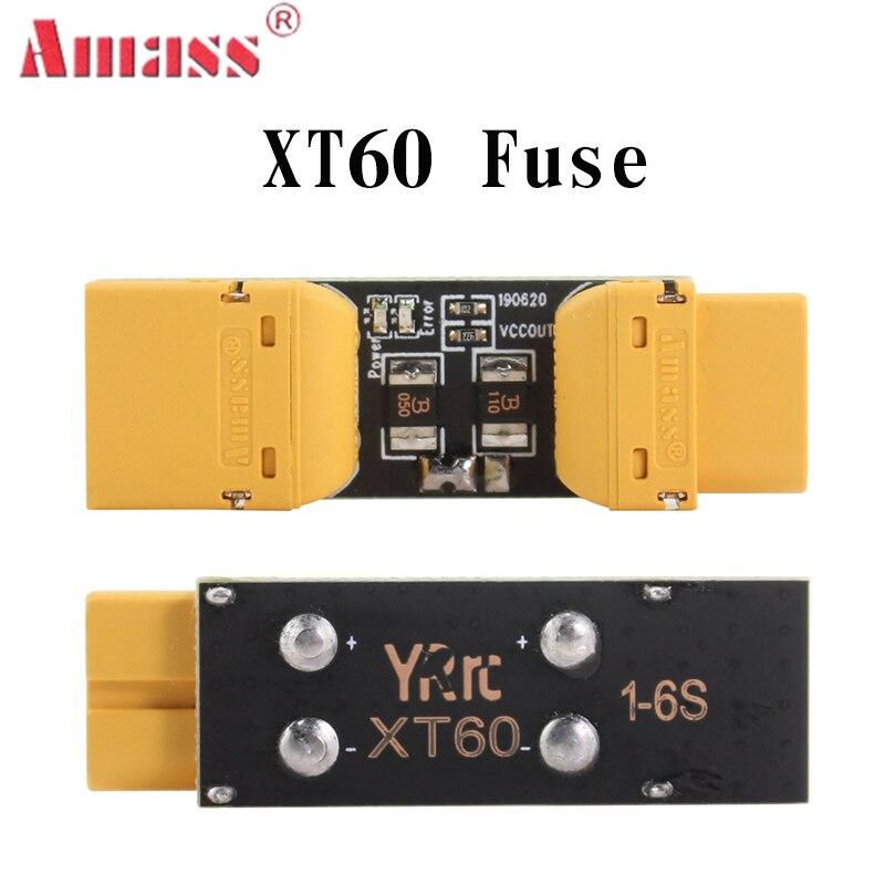 Fusible Amass XT60, fusible XT30, instalación de prueba, enchufe de seguridad, protección contra cortocircuitos, protección contra sobrecarga, inspección