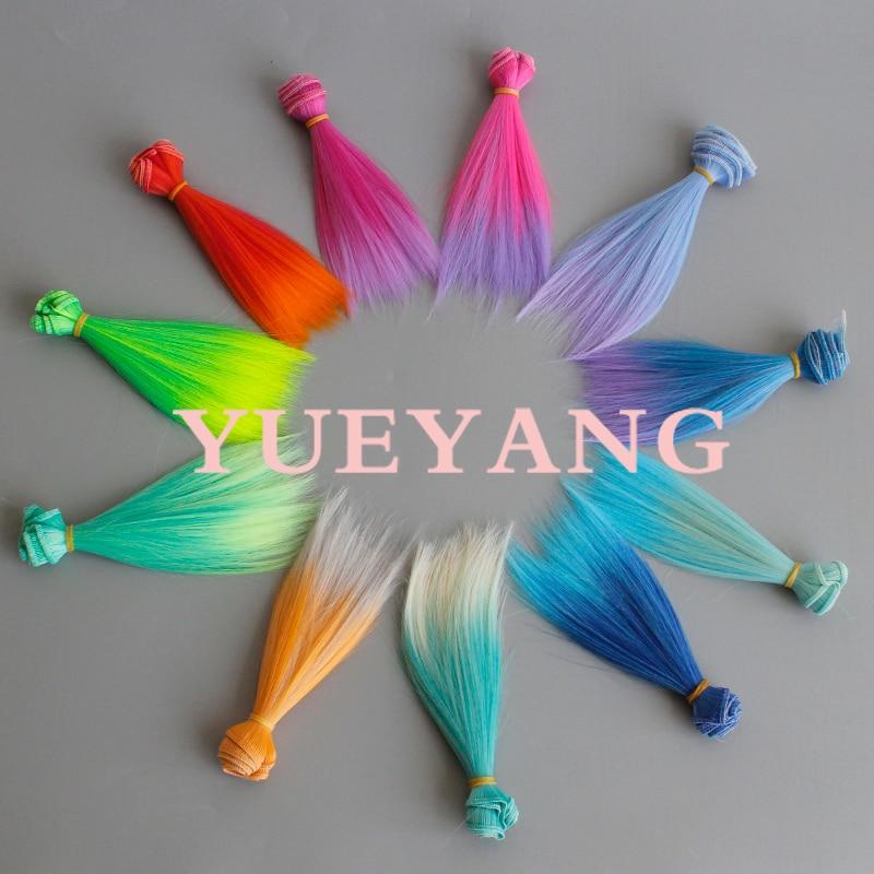 factory offer 15cm 25cm soft straight doll hair for monster high doll wigs diy hair repair