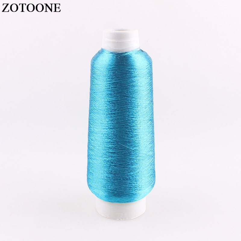 ZOTOONE 3500 M/rollo DMC Sky bordado azul hilos encerados para tejer organizador Crochet hilos de coser para Overlockers calibre D