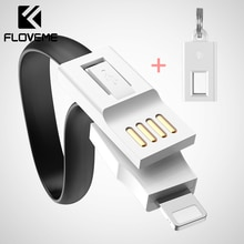 FLOVEME Mini KeyChain Micro USB Type C Cable Lighting Charger Cable For iPhone Samsung Portable USB