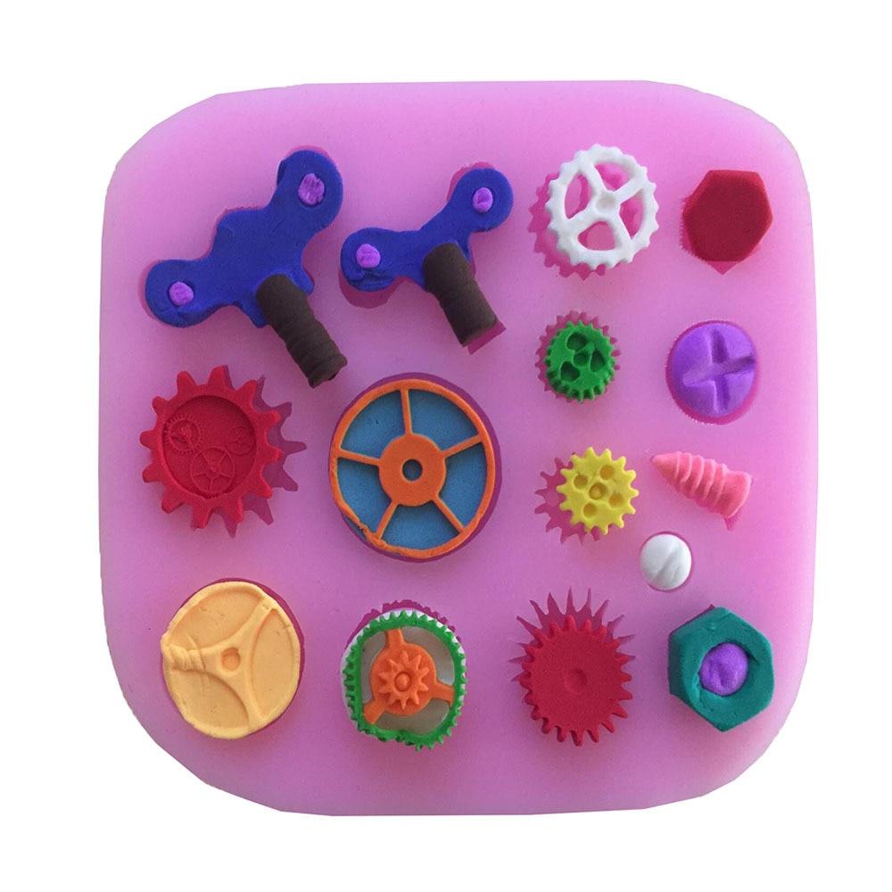 Moldes de silicona para Fondant de decoración de borde de pastel, moldes de silicona para dulces y Chocolate, herramientas de Decoración de cocina E399