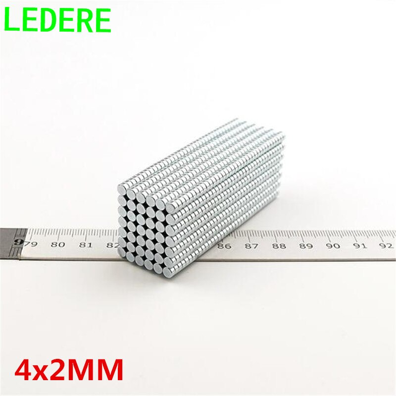 LEDERE 200 pièces 4x2 N35 4mm * 2mm meofairy aimant Mini disque Dia 4mm x 2mm fort puissant rond 4*2