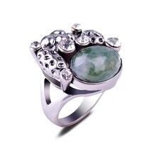 Purple Amethyst Ring Tiger Eye Stone Ring Jasper Oval Blue Sand Gemstone Setting Antique Silver Finger Rings Women Men Jewelry