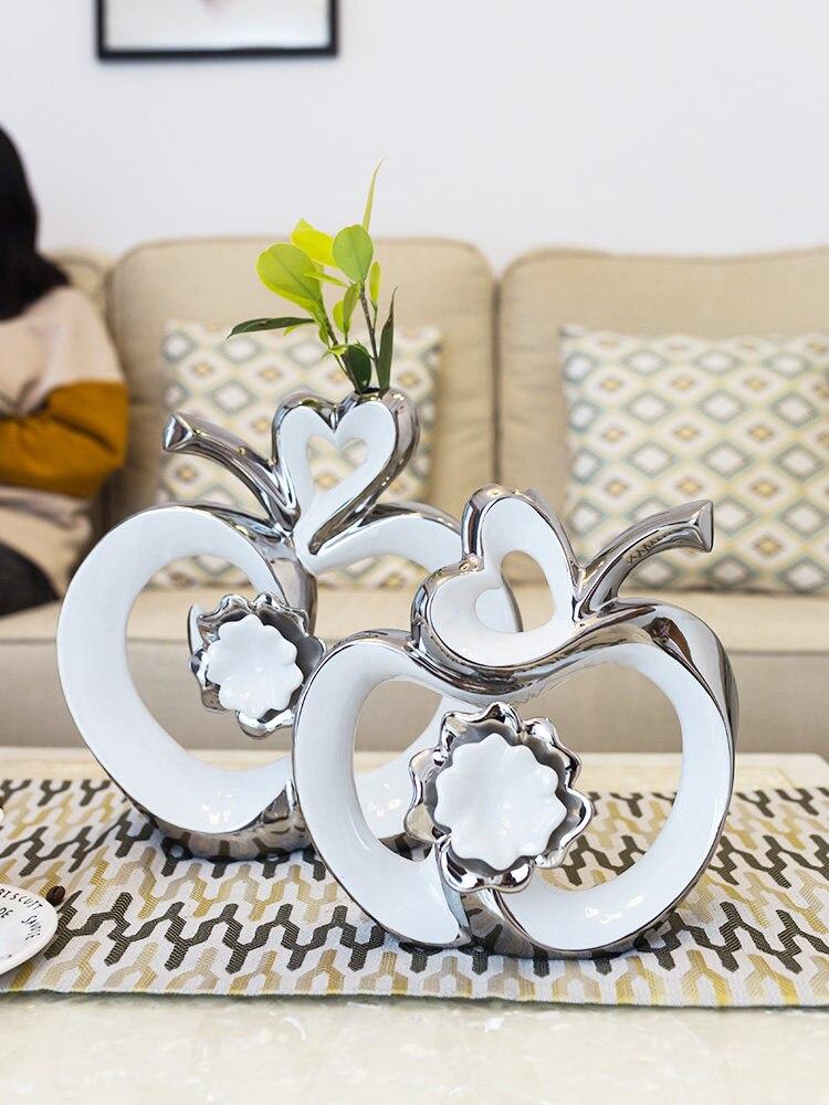 Moderne Minimalistischen Keramik Apple Glück Ornamente Handwerk Einrichtungs Dekoration Wohnzimmer Büro Zimmer Desktop Figuren Decor