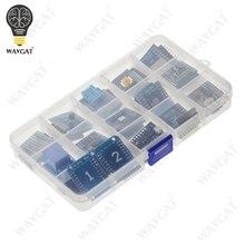 15 pièces KIT de carte de développement WiFi mini Pro WAVGAT D1 NodeMcu Lua, basé sur ESP8266 D1 mini Pro V1.1.0