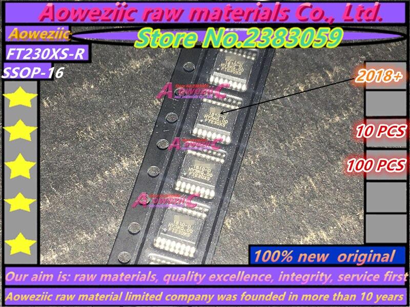 Aoweziic 2018 + 100% original novo FT230XS-R FT230XS FT230 SSOP-16 Controlador de Interface