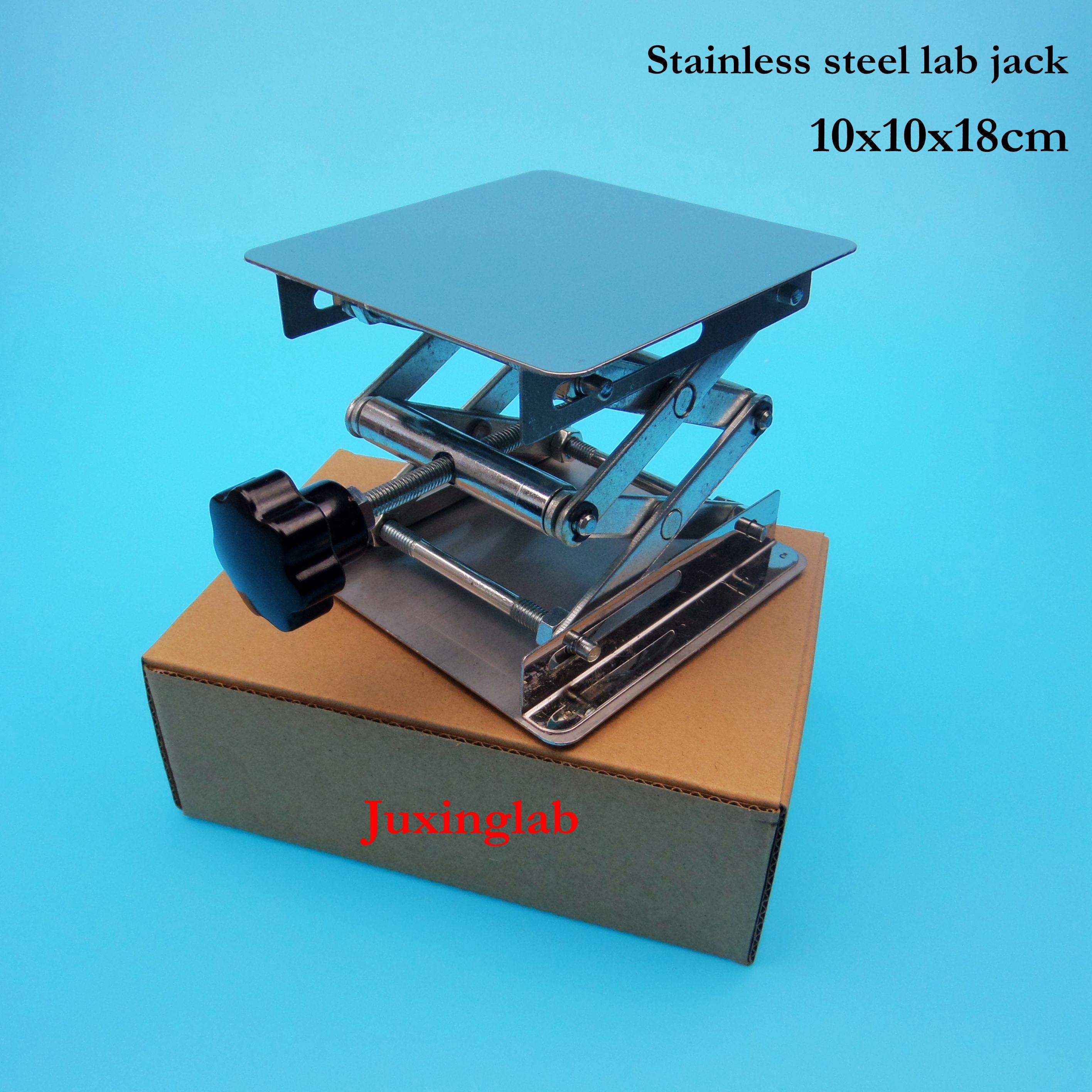 Лабораторные домкраты 100x100x180 мм, подъемная платформа из нержавеющей стали, 4 дюйма, 10x10x18 см
