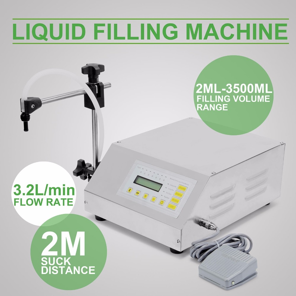 Package Machine GFK-160 2ML-3500ML Digital Control Pump Liquid Filling Machine