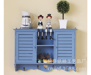 Wholesale Ocean Series wood crafts wall closet wall cabinet shelving Y1106L