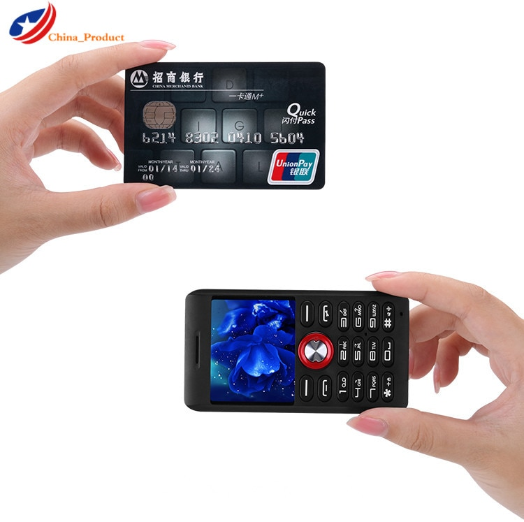 Melrose M18 Mini Card Phone Ultra-thin Student Cell phones With Vibration GSM MP3 Recorder and Bluet