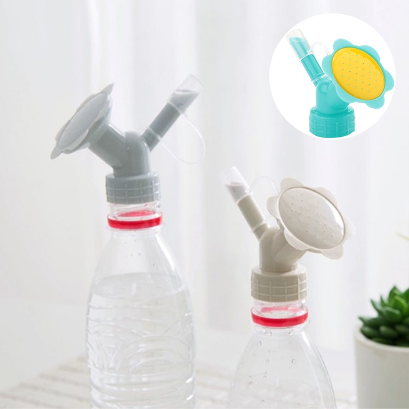 Flower Waterers Bottle Garden Tools Plastic Sprinklers Water Can Garden 2 In1 Dual Use Watering Cans Irrigation Sprinkler Nozzle