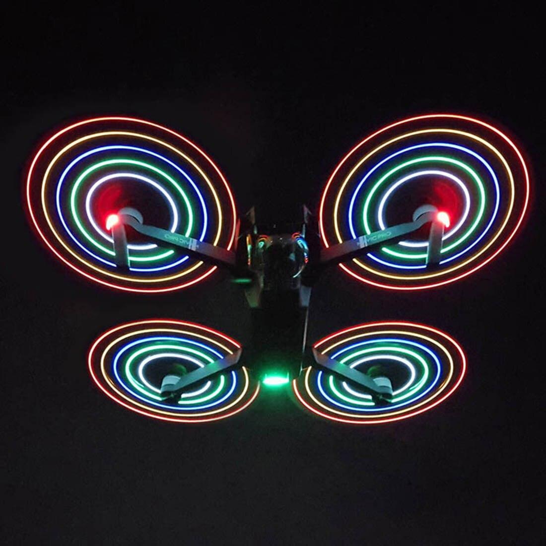 Hobbyinrc 1/2 pair hélices led lâminas de liberação rápida de baixo nível de ruído para dji mavic pro/platinum/alpine/mavic 2 pro/mavic 2 zoom