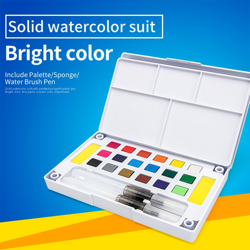 paul rubens 12 24 48 watercolor paint set with metal case solid artist water color painting pigment for drawing art supplies Bianyo 12/18/24/36Color Solid Watercolor Paints Set for Drawing Pigment Water Color With Water Brush Painting Set Art Supplies