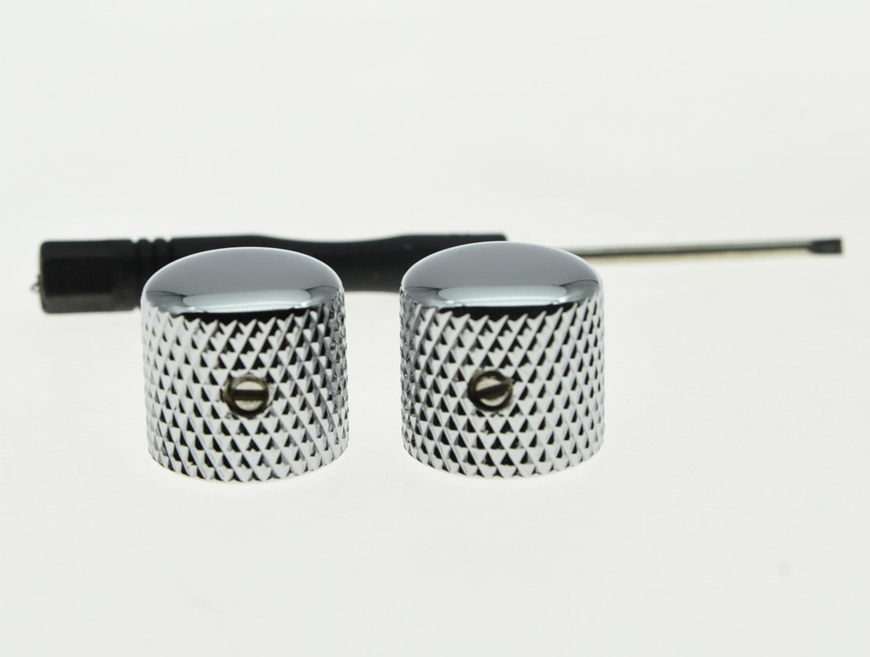 Комплект из 2 предметов KAISH, хромированные металлические купольные ручки для гитары Tele Telecaster или регулятор басов