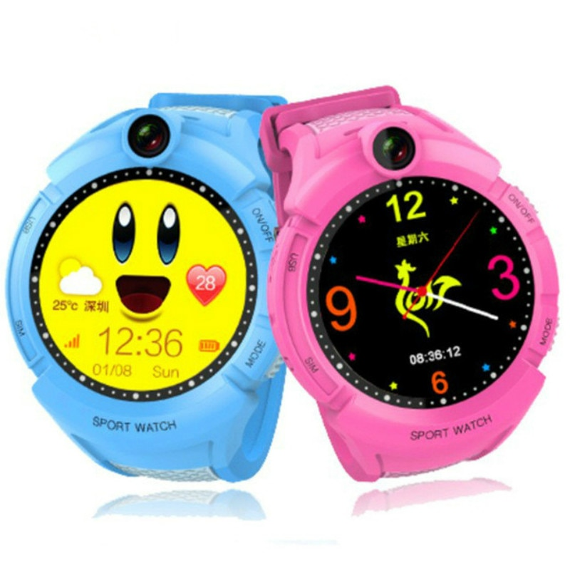 Relojes inteligentes para niños Q360 con cámara GPS reloj inteligente con ubicación SOS Monitor antipérdida rastreador infantil reloj de bebé teléfono para niños