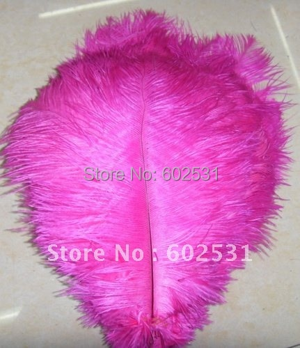SPR 15-20cm / 6-8''hot pink ostrich plumage feathers for wedding decoration table centerpieces feather bulk sale 100pcs /lot