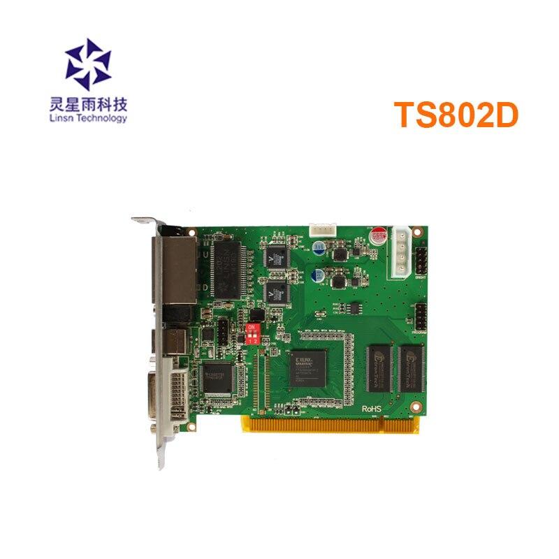 Linsn ts802d cor cheia led envio de cartão suporte rv908m32 linsn led receber cartão para p5 display led ao ar livre fixo tela led