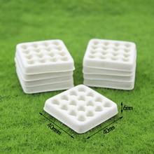 1 szt. Domek dla lalek Model miniaturowe jedzenie gra Mini pusta taca na jajka