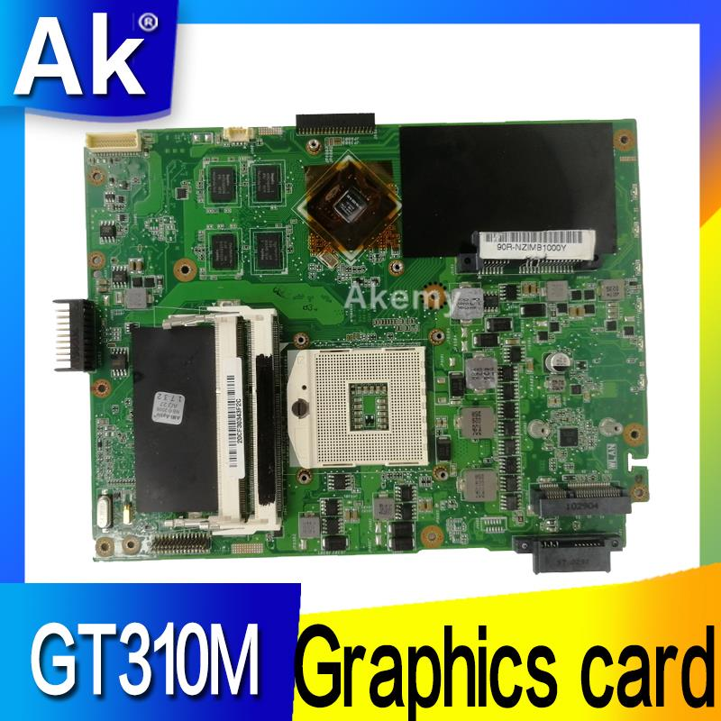 Placa base de ordenador portátil AK K52JC para For Asus K52JC K52JT K52JR placa base original de prueba GT310M tarjeta gráfica