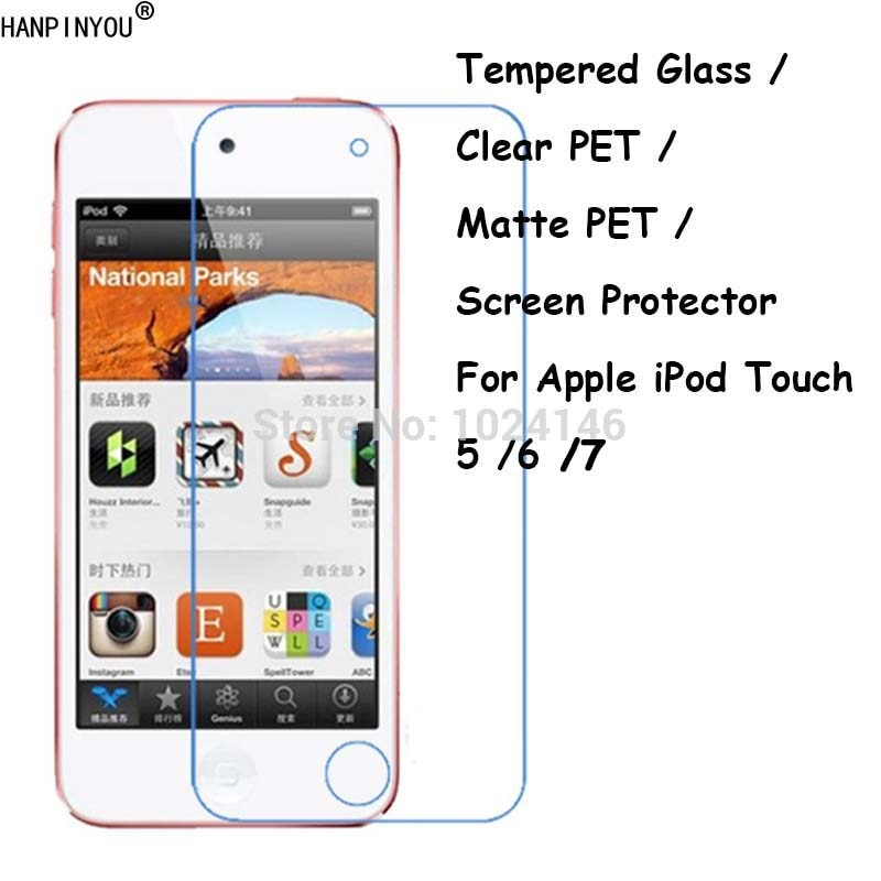 Tempered Glass / Clear PET / Matte PET Screen Protector Film For Apple iPod Touch 5 5th / 6 6th 7 7t
