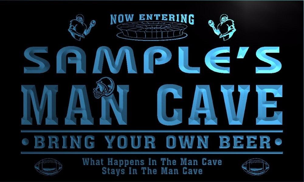 TM031 nombre personalizado hombre Cave barras para fútbol luz de neón LED de cerveza signos