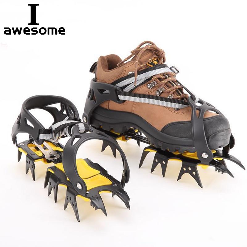 مسامير فولاذية غير قابلة للانزلاق للمشي لمسافات طويلة ، مسامير ثلجية ، أغطية أحذية خارجية ، مقابض أحذية ، 18 سنًا