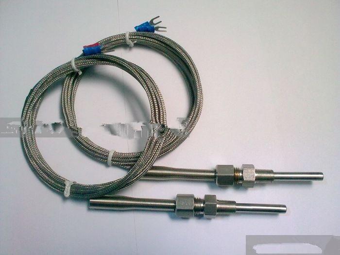 Class A Pt100 RTD powder seismic activity threaded temperature sensor RTD temperature probe