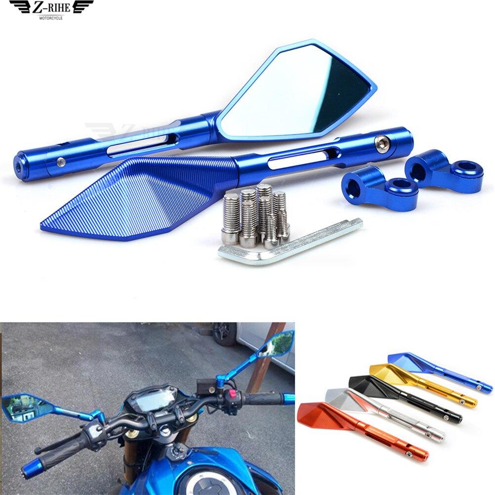Empuñaduras de manillar de espejo retrovisor lateral para motocicleta HONDA CBF600 SA CBR600F hoRnet 250 cb400 CB599 CB600 HORNET