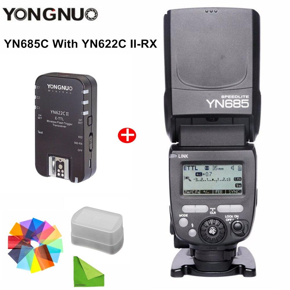 YONGNUO YN685 YN-685 (YN-568EX II Upgraded) Wireless HSS TTL Speedlite Flash with YN622C YN622II-C YN622C-TX YN560IV Speed Light