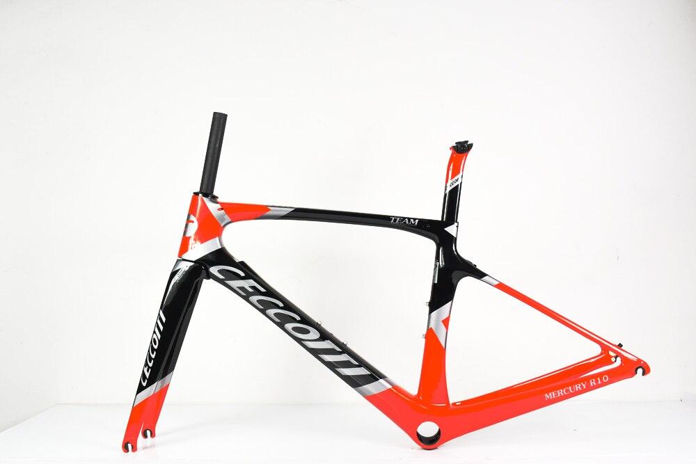Novo quadro de bicicleta t1000 brilhante ceccotti quadro de carbono chinês barato quadro de carbono