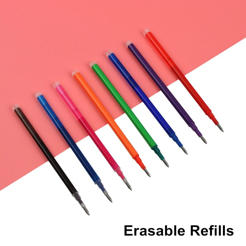 3 unids/lote magia bolígrafo borrable recargable 11,2 CM longitud 0,5mm de escritura punto goma tinta repuestos de bolígrafo de gel oficina útiles escolares de escritura