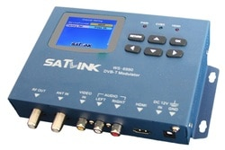 Satlink WS-6990 1 Rota Modulador DVB-T/AV/HDMI Satellite Finder Medidor ws6990