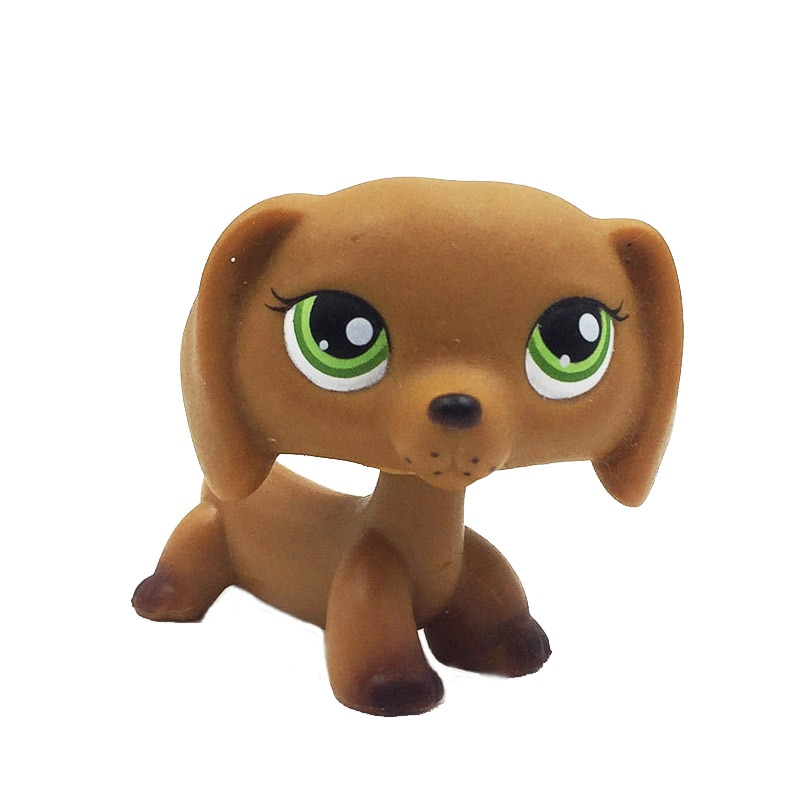 Редкие животные магазин милые игрушки животное #139 коричневый щенок таксы с зелеными глазами животные коллекция подарки на день рождения