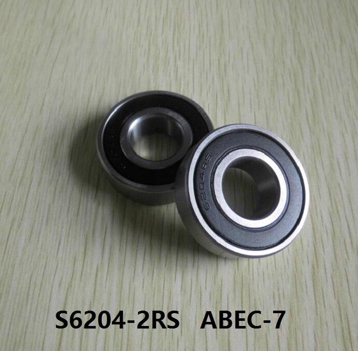 S6204-2RS S6204 2RS RS 20x47x14mm ABEC-7 Acero inoxidable híbrido Si3n4 rodamiento de cerámica para carrete de pesca 20*47*14 6204 6204RS