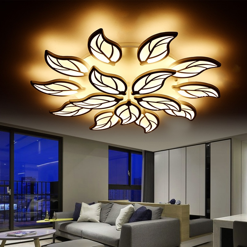 Luz de teto casa moderna sala de estar luz de teto do diodo emissor de luz de teto de acrílico vermelho luminarias levou teto