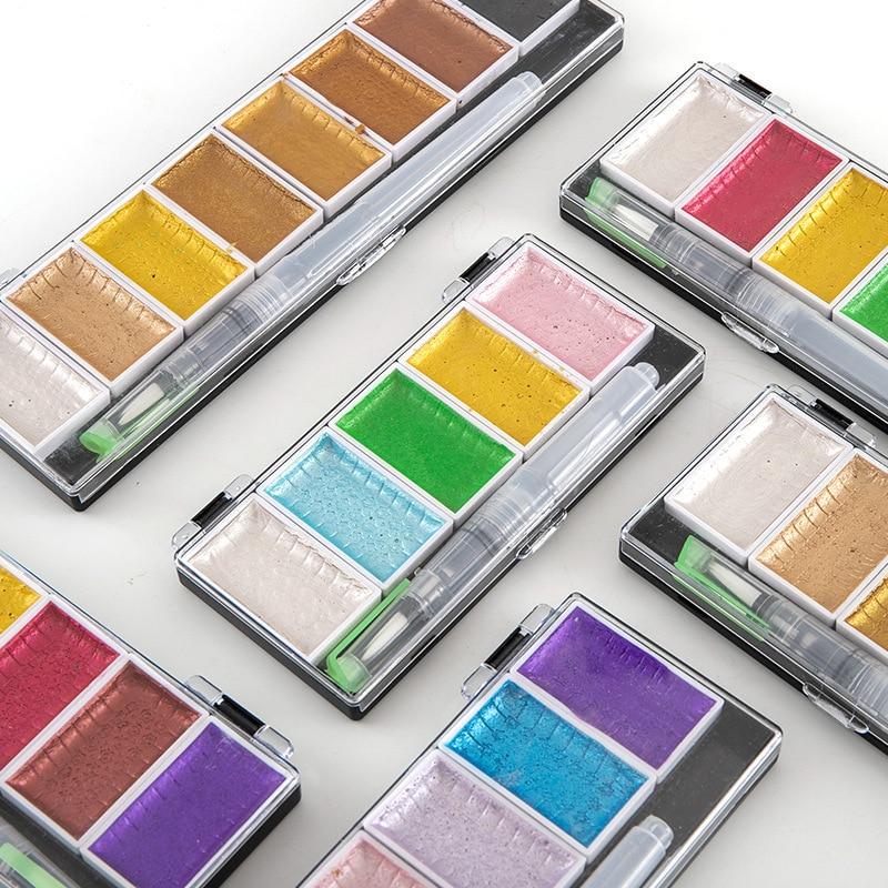 Acuarela Acuarelas Gouache + pluma estilográfica Color agua Arte en polvo Sulu Boya Set de pintura 5 colores/8 colores
