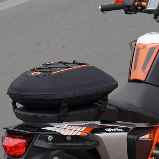 SFK دراجة نارية حقيبة المقعد الخلفي دراجة نارية الذيل صناديق سباق حزمة السرج حقيبة لديها غطاء للمطر يمكن مقاوم للماء أحمر أسود
